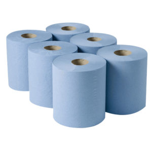 2WORK CENTREFEED 3PLY BLE 190X135M PK6