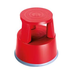 2WORK PLASTIC STEP STOOL RED