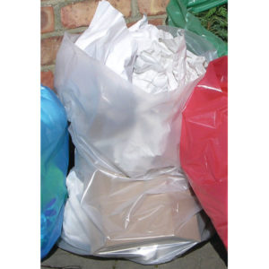 2WORK CLEAR REFUSE BAGS ROLL PK50X5