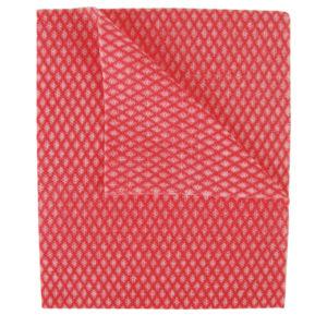 2WORK ECONOMY CLOTHS RED 42X35CM PK50
