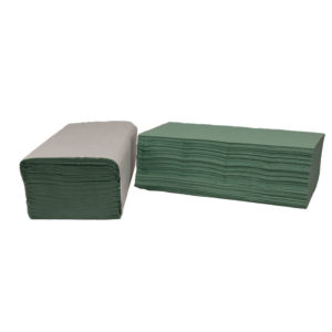 2WORK VFOLD HAND TOWELS 1PLY GRN PK3600