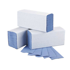 2WORK MFOLD HAND TOWELS 1PLY BLUE PK3000