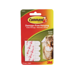 3M COMMAND ADHESIVE POSTER STRIPS S P12