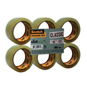 SCOTCH PACKAGING TAPE PP 50MMX66M CLEAR