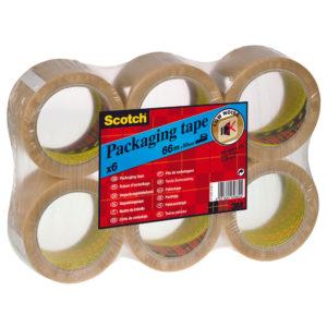 SCOTCH PACK TAPE PVC 50MMX66M CLEAR