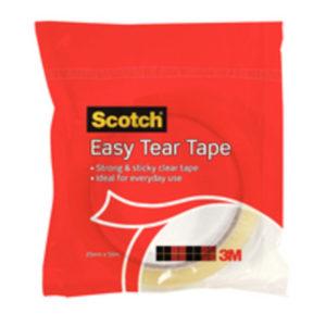 SCOTCH EASY TEAR SGL ROLL EVDAY TAPE CLR