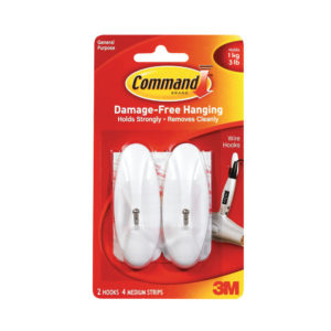 3M COMMAND MEDIUM WIRE HOOKS WITH STRIPS