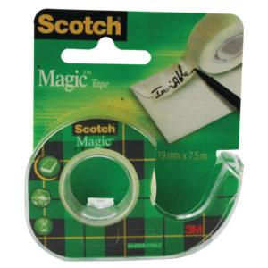 SCOTCH MAGIC TAPE 19MMX7.5M CLR 81975D
