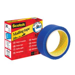 SCOTCH SECURE MAILING TAPE 35MMX33M BLUE