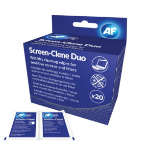 AF SCREEN-CLENE DUO 20 WET/DRY WIPES