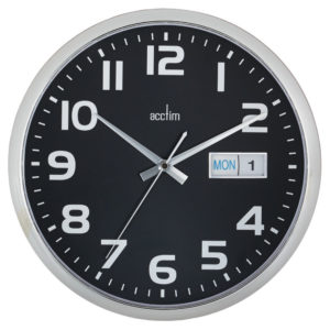 ACCTIM SUPERVISOR WALL CLOCK CHRM/BLACK