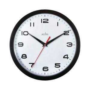 ACCTIM AYLESBURY WALL CLOCK BLK 92/302