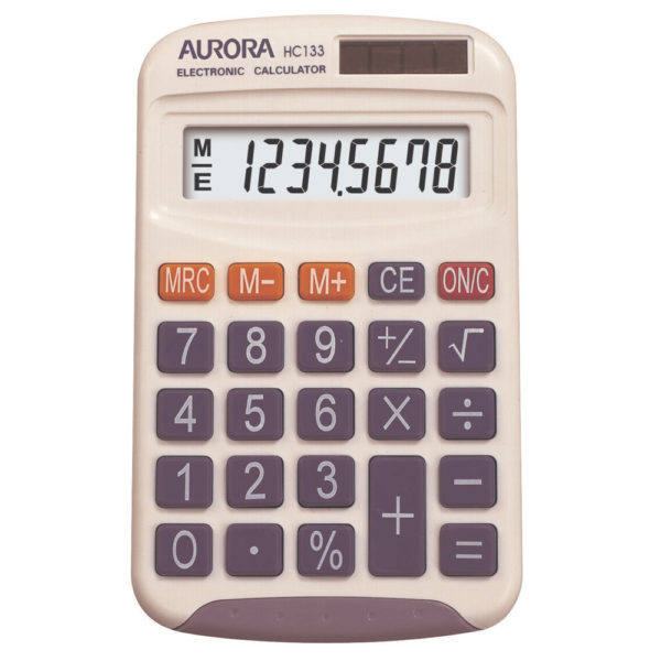 AURORA POCKET CALCULATOR HC133
