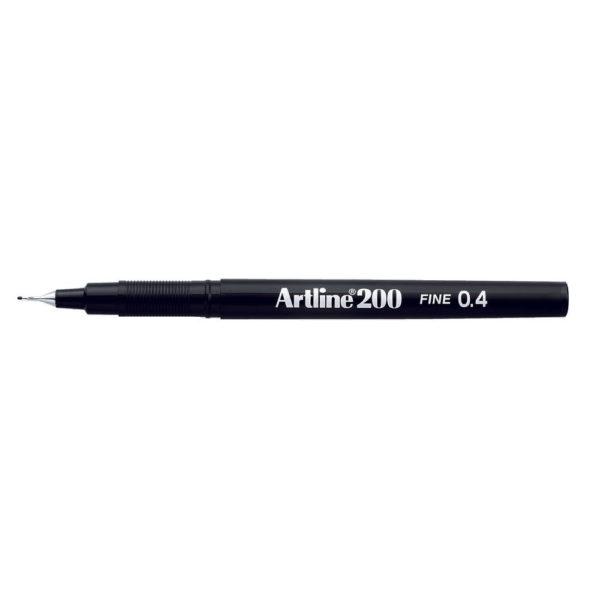 ARTLINE PEN 0.4MM TIP BLACK 200