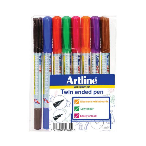 ARTLINE 2IN1 WHTBRD MRKR FN/SFN AST PK8