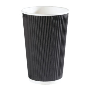 BLACK RIPPLE CUP 12OZ PK500