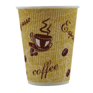 RIPPLE RED BEAN 12OZ PAPER CUP PK500