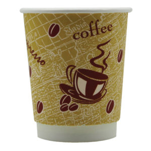 DOUBLE WALL 8OZ RED BEAN PAPER CUP PK500