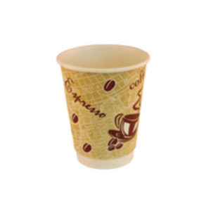 DOUBLE WALL 12OZ RED BEAN PAPER CUP P500