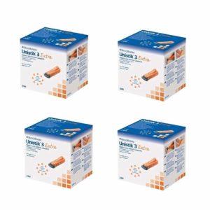 Unistik 3 Extra Depth Lancets, 21G-2mm x 200