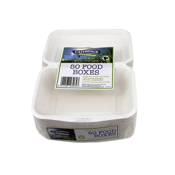 CATERPACK BIO SUPER RIGID FOOD BOX PK50