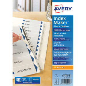 AVERY INDEX MAKER CLEAR 5 PART 05111081