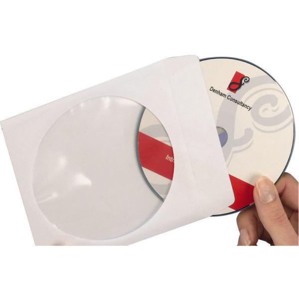 AVERY PAPER CD/DVD SLEEVE XL WINDOW WHT