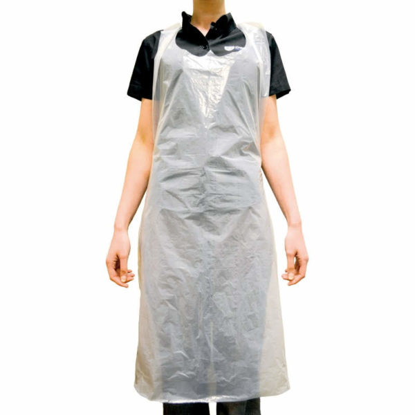 Plastic Disposable Aprons, Flat Pack- White x 600