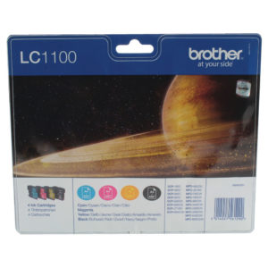 BROTHER LC1100VALBP INK VALUE PACK KCMY