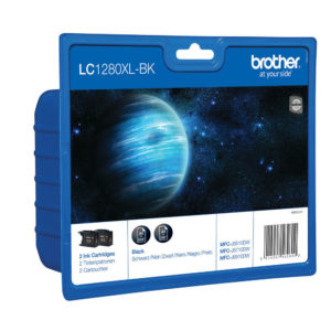 BROTHER LC1280XL INKJET CART TWIN PK BLK