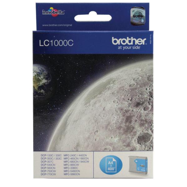 BROTHER LC1000C INKJET CART CYAN