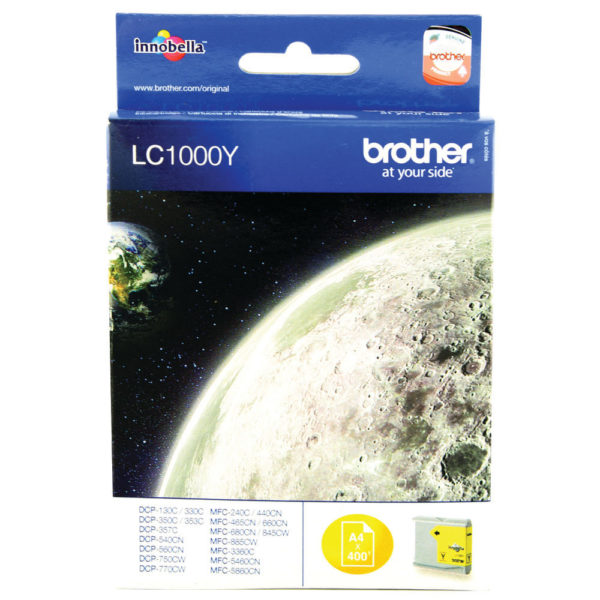 BROTHER LC1000Y INKJET CART YELLOW