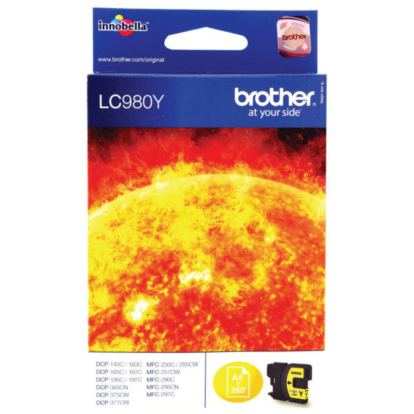 BROTHER LC980Y INK CARTRIDGE YELLOW