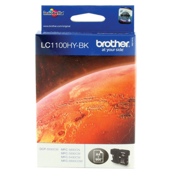 BROTHER LC1100HYBK INKJET CART HY BLACK