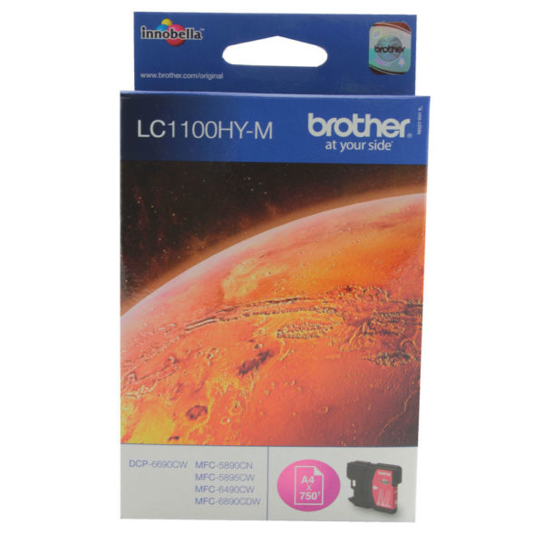 BROTHER LC1100HYM INKJET CART HY MAGENTA