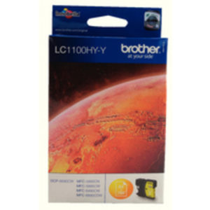 BROTHER LC1100HYY INKJET CART HY YELLOW