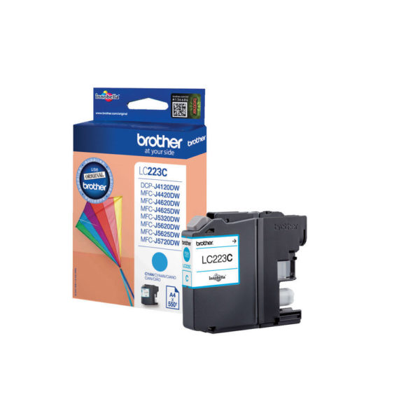 BROTHER CYAN INK CART LC223C