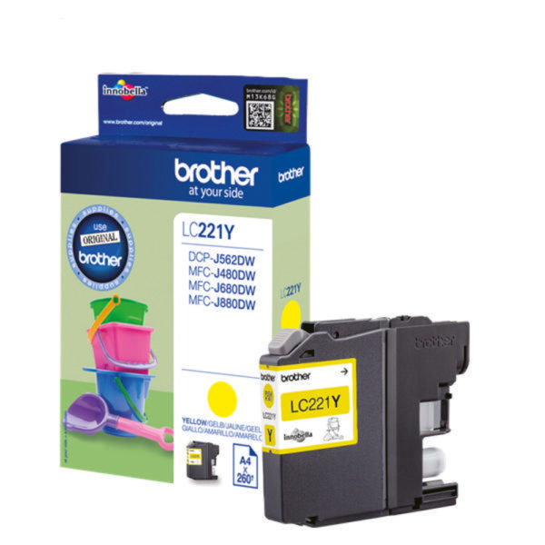 BROTHER INK CARTRIDGE YELLOW LC221Y