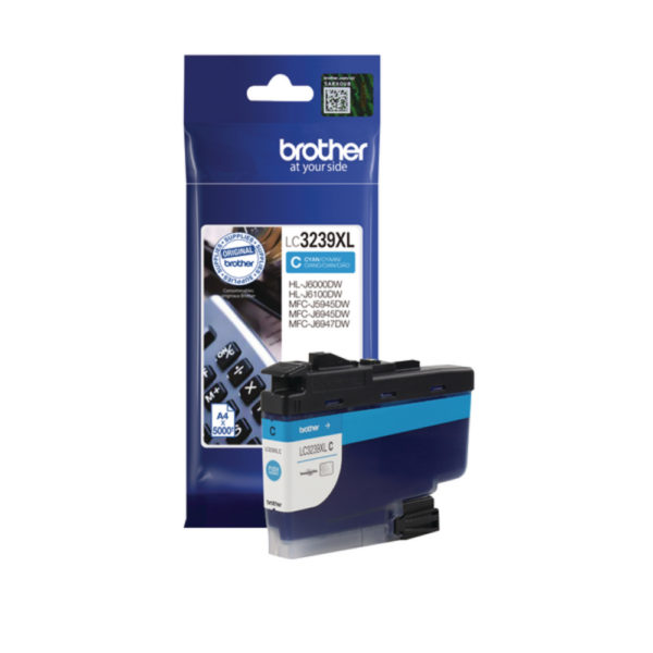 BROTHER LC3239XLC HY CYAN INK CART