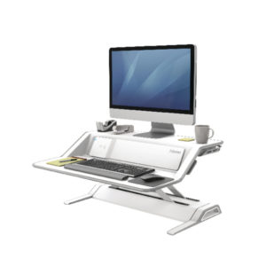 FELLOWES LOTUS DX SIT-STAND WKSTN WHITE