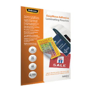 FELLOWES EASYMOVE ADHESIVE POUCH A4 PK25