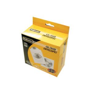 FELLOWES CD PAPER ENVELOPES 50PK WHITE