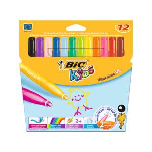 BIC PACK 12 KIDS VISA XL FELT TIPS ASSTD
