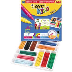 BIC CLASS PK 144 KIDS VISA F/TIPS ASSTD