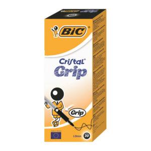 BIC CRISTAL GRIP BALL PEN BLACK