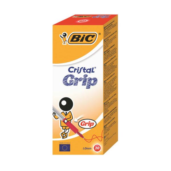 BIC CRISTAL GRIP BALL PEN RED