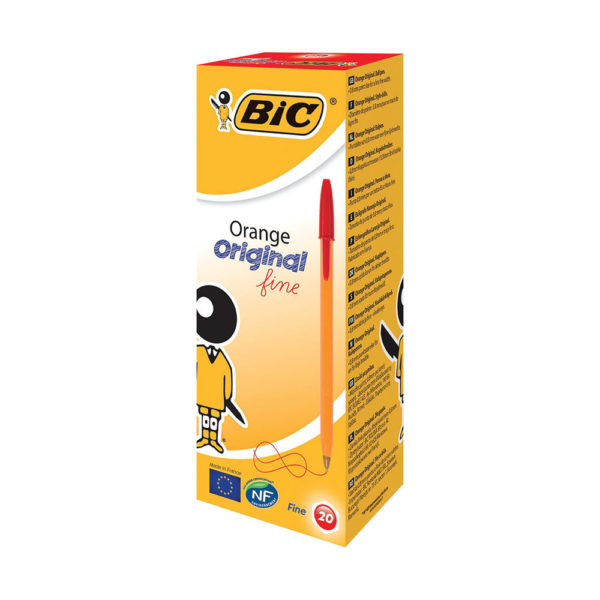 BIC ORANGE CRISTAL FINE RED 1199110112