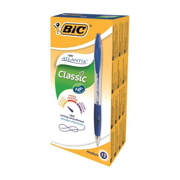 BIC ATLANTIS RETRACT BPEN BLU 949845