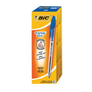 BIC CRISTAL CLIC BALLPEN BLUE  850733