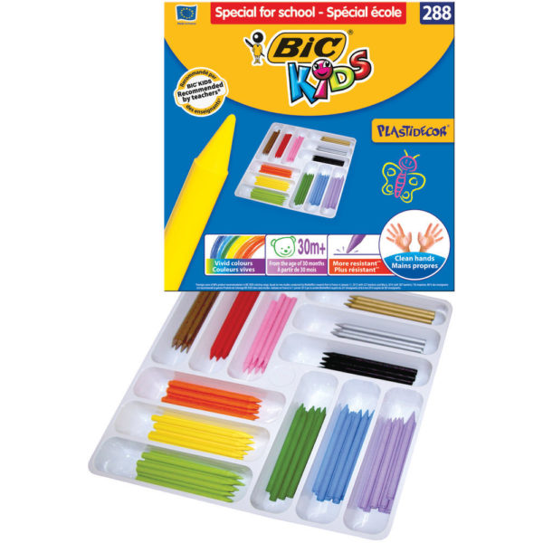 BIC KIDS PLASTIDECOR COLOURING CRAYONS